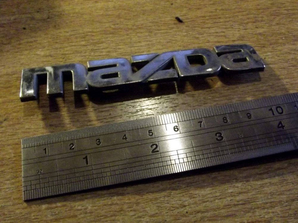Badge, Mazda, Rear, MX-5 mk1, 100mm, NA1251711, USED
